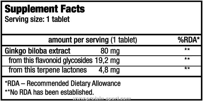 BioTech Ginkgo Biloba 90 таблеток