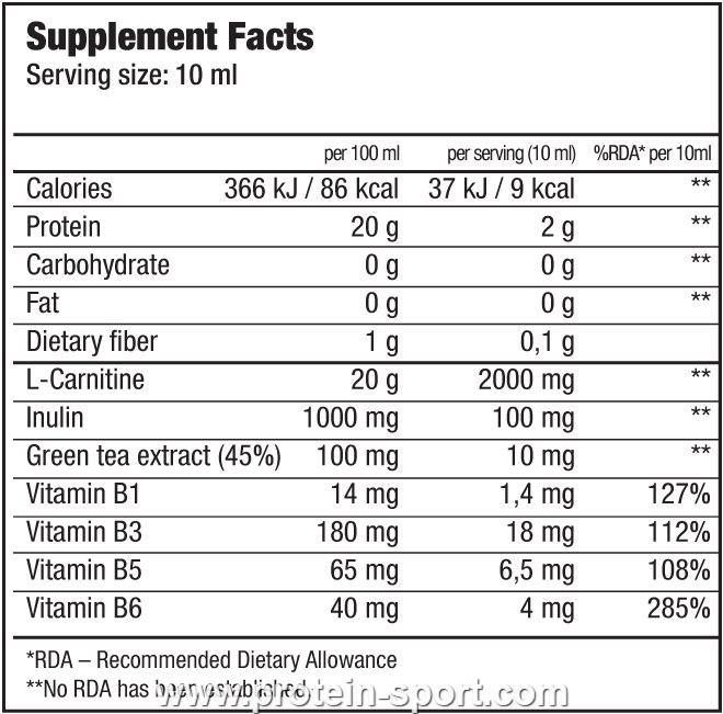 BioTech 100000 mg Liquid L-Carnitine 500 мілілітрів