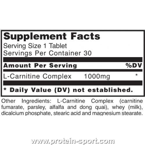L-Carnitine 1000 mg 30 tabs
