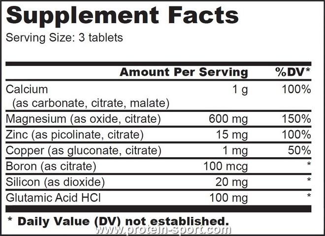 BioTech Ca Mg Zinc 100 таблеток