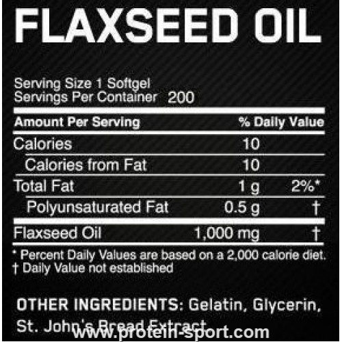 Optimum Nutrition Flaxed Oil Softgels 1000 mg 100 капсул