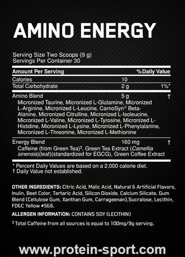 Optimum Nutrition Essential Amino Energy 270 грамм