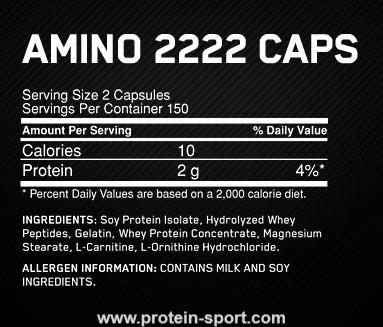 Optimum Nutrition Superior Amino 2222 Tabs 160 таблеток