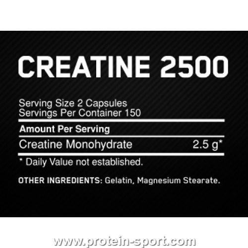 Optimum Nutrition Creatine 2500 Caps 200 капсул
