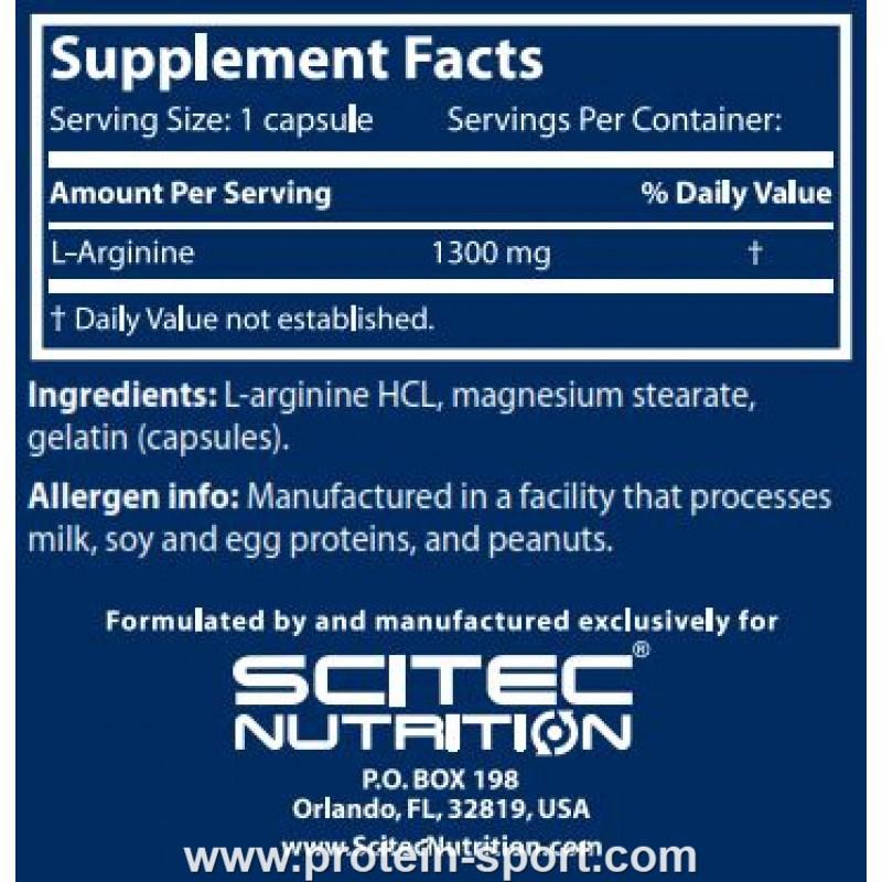 Scitec Nutrition Mega Arginine 140 капсул