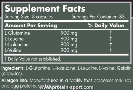 Аминокислотный комплекс Scitec Nutrition G-BCCA 250 капсул